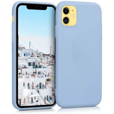KW Θήκη Σιλικόνης iPhone 11 - Light Blue Matte (200-104-396)