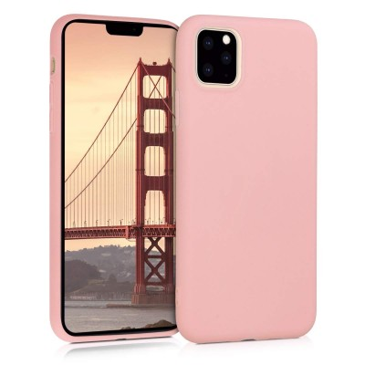 KW Θήκη Σιλικόνης iPhone 11 Pro Max - Rose Gold Matte (200-104-386)