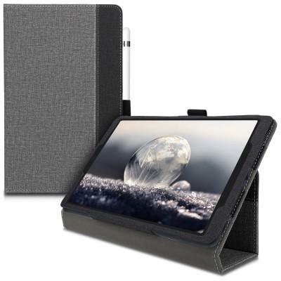 Θήκη-smart cover με stand για Samsung Galaxy Tab A 10.1 (2019) -Grey/Black by KW (200-104-884)
