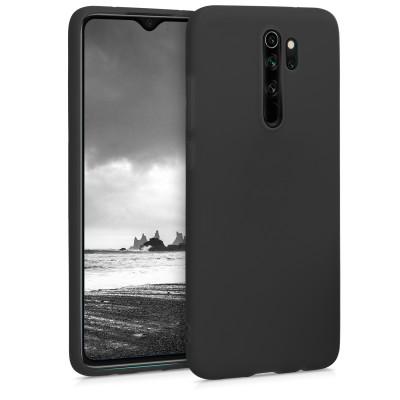 Θήκη Σιλικόνης για Xiaomi Redmi Note 8 Pro - Black Matte by KW (200-104-721)