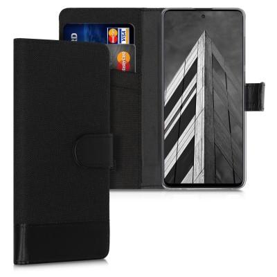 Θήκη πορτοφόλι Anthracite / Black για Samsung Galaxy A71 by KW (200-105-645)