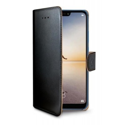 Celly Wally Θήκη - Πορτοφόλι Huawei P20 Lite - Black (WALLY744)