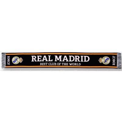 Κασκόλ Real Madrid μαύρο- Επίσημο προϊόν (100-100-618)