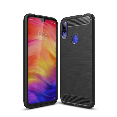 Θήκη TPU Carbon Xiaomi Redmi Note 7 - Black- OEM (200-103-641)