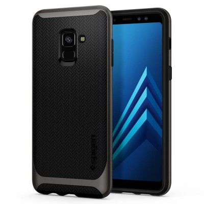 Spigen Galaxy A8 2018 Neo Hybrid Gunmetal (590CS22754)