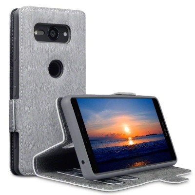 Terrapin Low Profile Θήκη - Πορτοφόλι Sony Xperia XZ2 Compact - Grey (117-005-631)