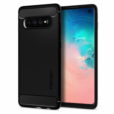 Spigen Galaxy S10+ Rugged Armor Black (606CS25765)