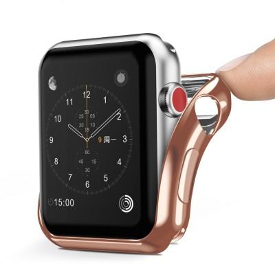 Dux Ducis θήκη σιλικόνης σε χρυσό χρώμα για  Apple Watch 2/3 42mm (200-103-253)