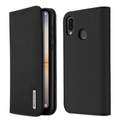 Δερμάτινη θήκη-πορτοφόλι για Huawei P20 Lite μαύρη από τη Dux Duxis (200-103-393)
