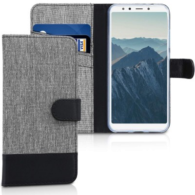 Θήκη Πορτοφόλι για Xiaomi Mi 6X / Mi A2 γκρι By KW (200-103-083)