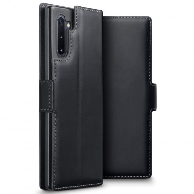 Terrapin Low Profile Δερμάτινη Θήκη - Πορτοφόλι Samsung Galaxy Note 10 - Black (117-002a-178)