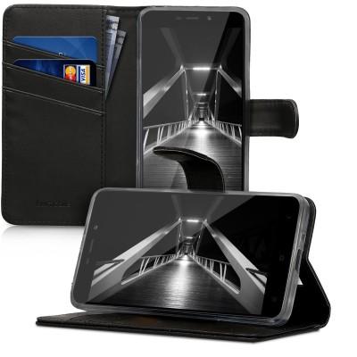 Θήκη-Πορτοφόλι για Xiaomi Redmi 4A μαύρη by KW (200-102-564)