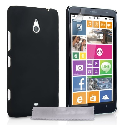 Θήκη για Nokia Lumia 1320 by YouSave Accessories μαύρη  και δώρο screen protector