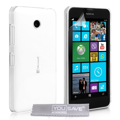 Θήκη για Microsoft Lumia 532 by YouSave Accessories διάφανη και screen protector (200-100-249)