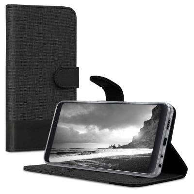 Θήκη-Πορτοφόλι για Xiaomi Redmi Note 5/Note 5 Pro Μαύρο Ανθρακί by KW (200-103-192)