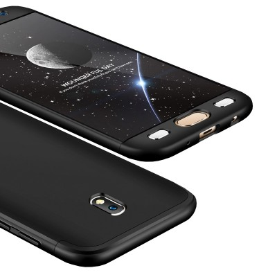 Full Body θήκη για Samsung Galaxy J7 (2017) μαύρη -OEM (200-102-827)