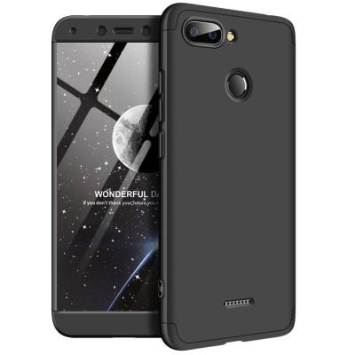 Full Body θήκη για Xiaomi Redmi 6 μαύρη OEM (200-103-255)