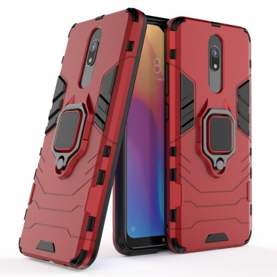 Ring Armor Case Kickstand Tough Rugged Cover for Xiaomi Redmi 8A - Red (200-105-090)