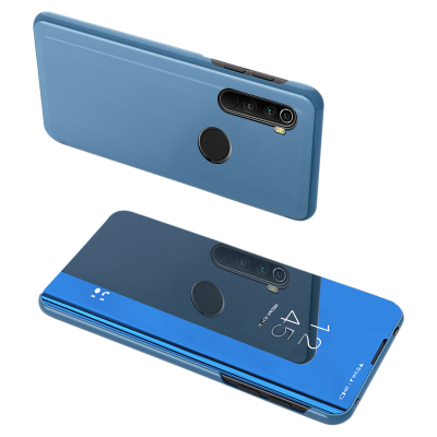 Θήκη Clear View Standing Cover για Xiaomi Redmi Note 8T Μπλε - OEM (200-105-684)