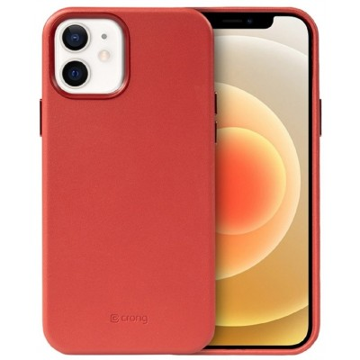 Crong Essential Eco Leather - Σκληρή Θήκη Apple iPhone 12 / 12 Pro - Red (CRG-ESS-IP1261-RED)