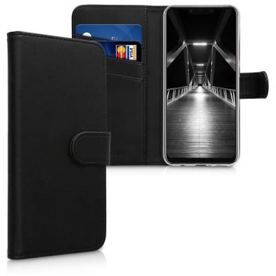 Θήκη-Πορτοφόλι για Huawei Mate 20 Lite μαύρη by KW (200-103-190)