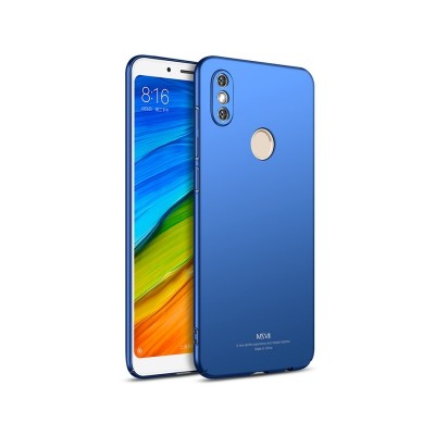 MSVII Super Slim Σκληρή Θήκη PC Xiaomi Redmi Note 5 / Redmi Note 5 Pro - Blue (200-103-019)