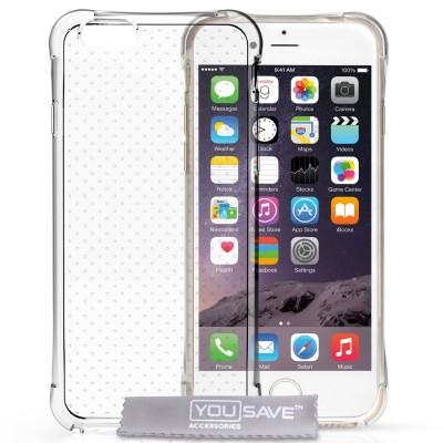 Θήκη σιλικόνης για iPhone 6/6S διάφανη by YouSave και δώρο  screen protector
