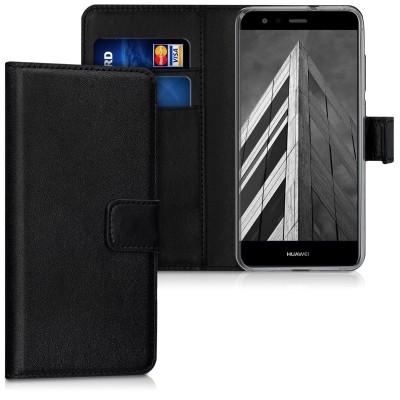 Θήκη-Πορτοφόλι για Huawei P10 Lite  Μαύρη  by KW (200-102-538)