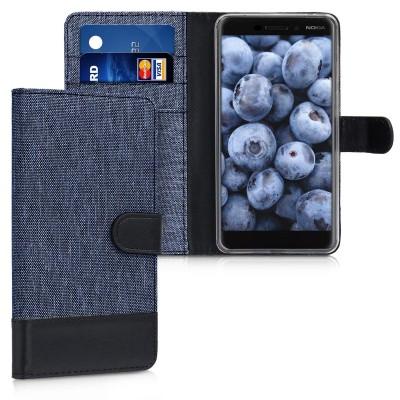 Θήκη-Πορτοφόλι για Nokia 6 (2018) μπλέ by KW (200-102-949)