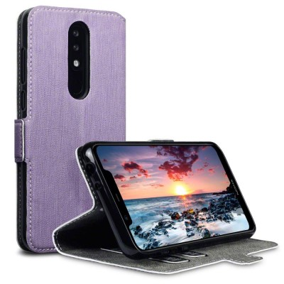 Terrapin Θήκη - Πορτοφόλι Nokia 5.1 Plus - Purple (117-001-313)