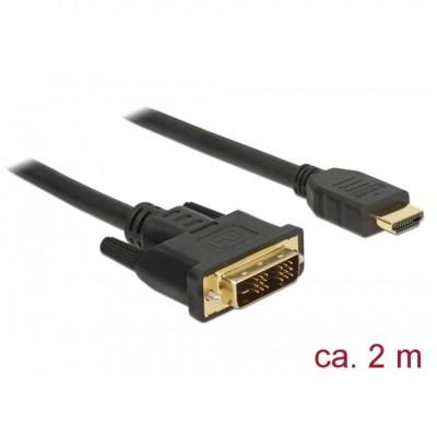Delock DVI-D 18+1 > HDMI Cable M/M 2m (85584)