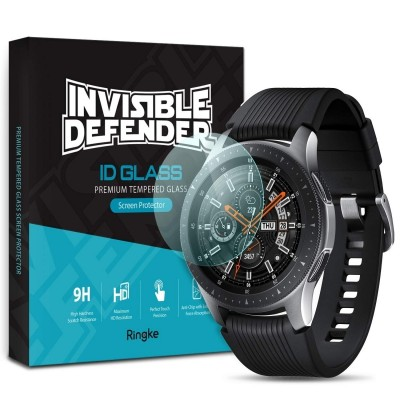 Ringke Invisible Defender Ultra Slim HD Clear 9H Tempered Glass για Galaxy Watch 46mm  - Σετ 4 Τεμαχίων (200-103-180)