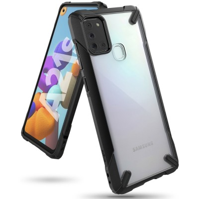Ringke Fusion-X Θήκη Samsung Galaxy A21s με TPU Bumper - Black (200-106-009)