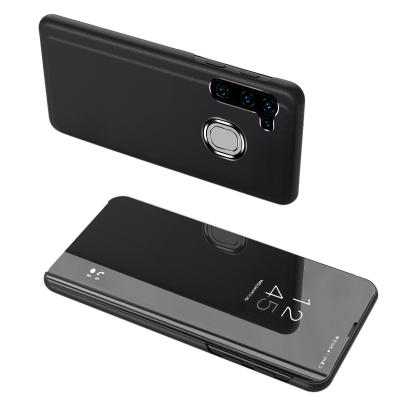Θήκη Clear View Standing Cover για Samsung Galaxy A21s  Μαύρη - OEM (200-106-011)