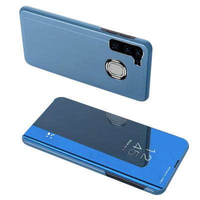Θήκη Clear View Standing Cover για Samsung Galaxy A21s  Μπλε - OEM (200-106-010)