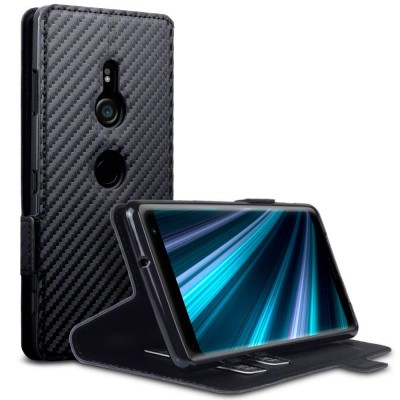 Terrapin Low Profile Θήκη - Πορτοφόλι Carbon Fibre Sony Xperia XZ3 - Black (117-005-643)