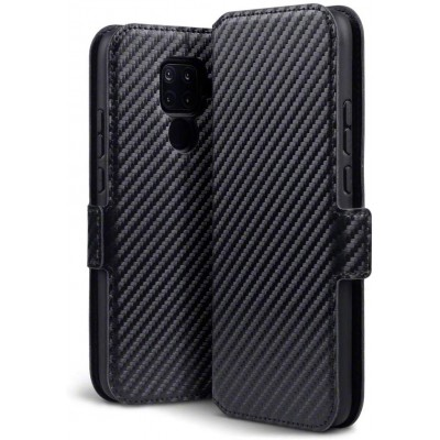 Terrapin Low Profile Θήκη - Πορτοφόλι Carbon Fibre Huawei Mate 30 Lite - Black (117-083-240)