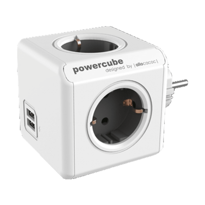 Allocacoc PowerCube Original USB - Πολύμπριζο - Γκρι (200-105-693)