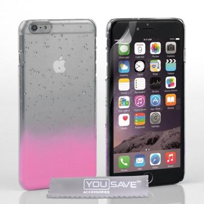 Θήκη για iPhone 6 Plus /6S Plus  by YouSave ροζ και screen protector
