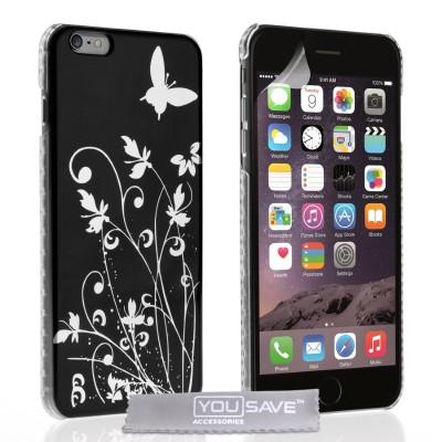 Θήκη για iPhone 6 Plus /6S Plus  by YouSave Butterfly και screen protector
