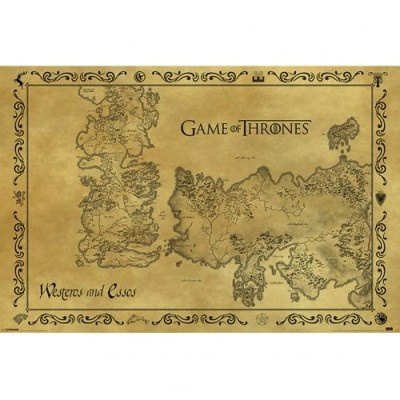 Game of Thrones - Poster Westeros - Essos - επίσημο προϊόν (100-100-767)