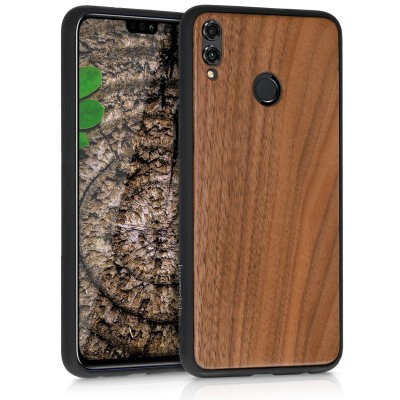 KW Ξύλινη Θήκη Huawei Honor 8X  - Dark Brown (49159.18)
