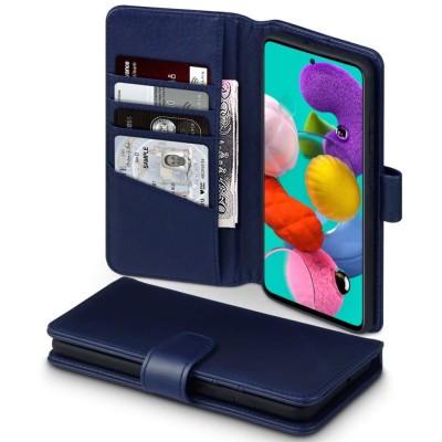 Terrapin Δερμάτινη Θήκη - Πορτοφόλι Samsung Galaxy A51 - Blue (117-002a-206)