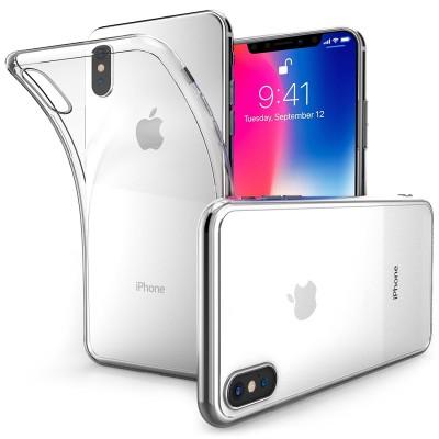 Θήκη σιλικόνης Ultra Slim Clear για iPhone X by Centopi και δώρο screen protector (200-102-560)