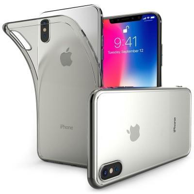 Θήκη σιλικόνης Ultra Slim Smoke Black για iPhone X by Centopi και δώρο screen protector (200-102-559)