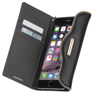 Rebecca Minkoff iPhone 6 Plus / 6s Plus  Leather Folio Black (CM032241)