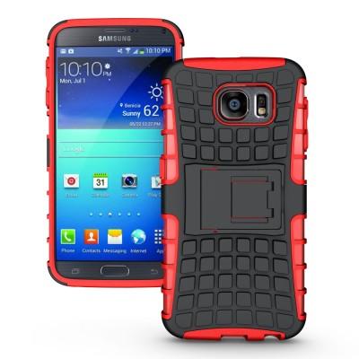 Ανθεκτική Θήκη Samsung Galaxy S6 κόκκινη -OEM (200-101-400)