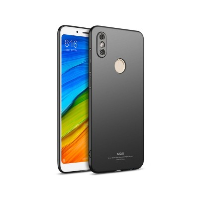 MSVII Super Slim Σκληρή Θήκη PC Xiaomi Redmi Note 5 / Redmi Note 5 Pro - Black (200-103-018)