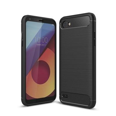 Θήκη TPU Carbon LG Q6 - Black - OEM (11482)