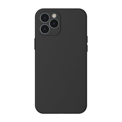 Baseus θήκη σιλικόνης για iPhone 12 Pro Max Liquid Black (200-107-236)